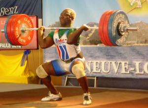 Claude BOUPDA 172,5kg à l'épaulé Champion de France en 2005