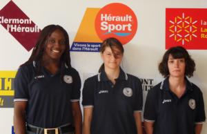 Coupe de France féminines 2011 Gaëlle Ketchanke, Emelyne Maussière et Cécile MESTRE