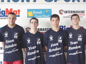 4 titres de champions de France 2003 en Cadets et Juniors