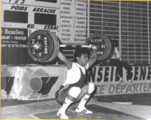 Open France 1991 Katchatour KIAPANATSIAN (75kg) 150kg à l'arraché