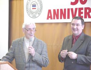 Mr Marc MICHEL en compagnie de Bernard SOTO à l'occasion du 50ème anniversaire du Club