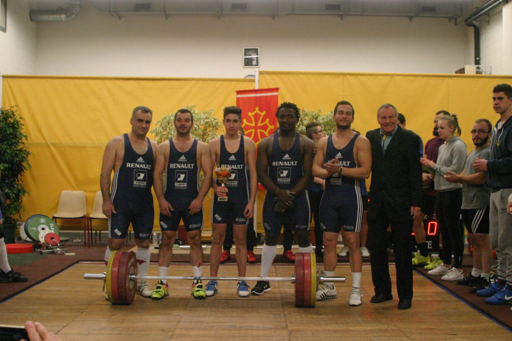 L'équipe victorieuse du 1er championnat régional d'Occitanie à Figeac le 7 janvier 2017