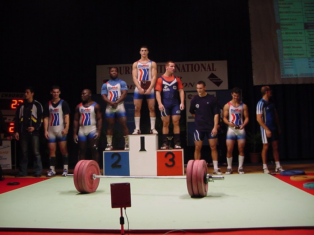 Podium : 1er Ali EL MOUJOUD, 2ème Claude BOUPDA et 3ème Benjamin HENNEQUN
