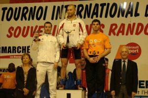Podium masculin : 1er Barthomiej BONK (Pologne), 2ème Benjamin HENNEQUIN (France) et 3ème (Jean Baptiste BARDIS (France)