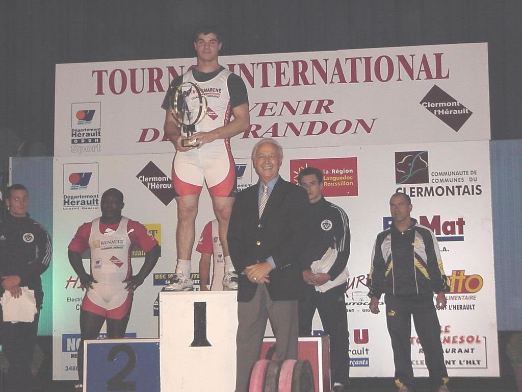 Le vainqueur Jean-Baptiste Bardis et Yvan Randon