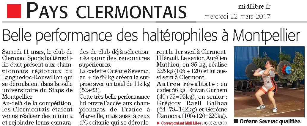 Clermont sports halterophilie championnats du languedoc roussillon - Coupe de france languedoc roussillon ...