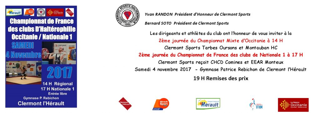Championnat de France des Clubs et d'Occitanie 2ème journée
