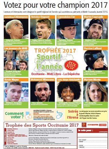Trophée 2017 Sportif de l'année